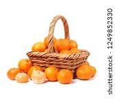fresh mandarin oranges fruit in ... | Shutterstock . vector #1249852330