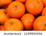 fresh ripe tangerines  | Shutterstock . vector #1249854346