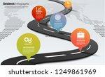 5 choice infographic framework.... | Shutterstock .eps vector #1249861969