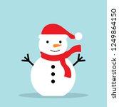 snowman isolated on white... | Shutterstock .eps vector #1249864150
