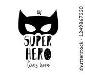 nursery print a super hero...   Shutterstock .eps vector #1249867330