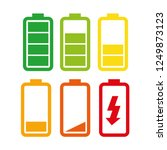 set of batteries with different ... | Shutterstock .eps vector #1249873123