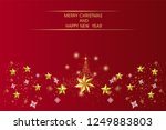 red christmas background with... | Shutterstock .eps vector #1249883803