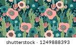 floral seamless pattern. vector ... | Shutterstock .eps vector #1249888393