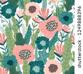 floral seamless pattern. vector ... | Shutterstock .eps vector #1249888396