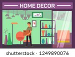 house decor shop with buyer and ... | Shutterstock .eps vector #1249890076