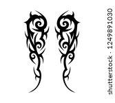 sleeve tattoo  tribal symmetry... | Shutterstock .eps vector #1249891030