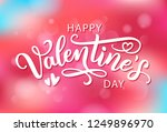 happy valentines day with... | Shutterstock .eps vector #1249896970