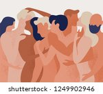 crowd of naked men and women... | Shutterstock .eps vector #1249902946