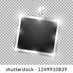 square polaroid realistic... | Shutterstock .eps vector #1249910839