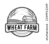 wheat vintage logo | Shutterstock .eps vector #1249912249