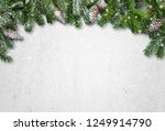christmas fir tree branch... | Shutterstock . vector #1249914790