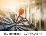 dart hitting the center of...   Shutterstock . vector #1249914949