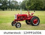 Red Antique Vintage Tractor...