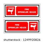 fire sprinkler head symbol sign ... | Shutterstock .eps vector #1249920826
