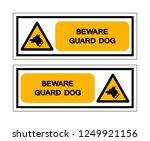 beware guard dog symbol sign ... | Shutterstock .eps vector #1249921156
