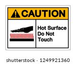 caution hot surface do not... | Shutterstock .eps vector #1249921360