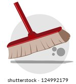 illustration of cleaning... | Shutterstock .eps vector #124992179