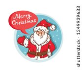 merry christmas flat icon with... | Shutterstock .eps vector #1249939633
