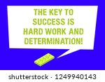writing note showing the key to ... | Shutterstock . vector #1249940143