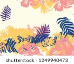 tropical background. green ... | Shutterstock .eps vector #1249940473