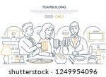 teambuilding   modern line... | Shutterstock .eps vector #1249954096