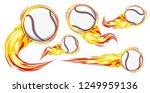 baseball on the fire symbols...   Shutterstock .eps vector #1249959136