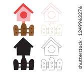 bird house worksheet vector... | Shutterstock .eps vector #1249963276