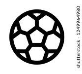 football  soccer  ball  sport ... | Shutterstock .eps vector #1249964980