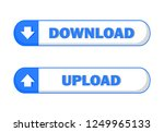 blue button download and upload ... | Shutterstock .eps vector #1249965133