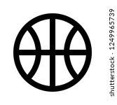 basketball  ball  sport  pixel... | Shutterstock .eps vector #1249965739