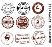 set of santa claus signs.... | Shutterstock .eps vector #1249966933
