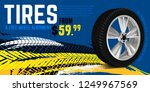 vector tire sale out banner... | Shutterstock .eps vector #1249967569