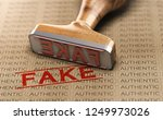 rubber stamp and word fake... | Shutterstock . vector #1249973026