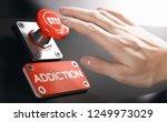 woman pressing a panic button... | Shutterstock . vector #1249973029
