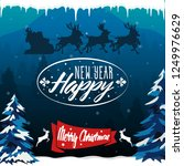 merry christmas and happy new...   Shutterstock .eps vector #1249976629