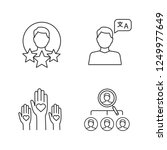 resume linear icons set.... | Shutterstock .eps vector #1249977649