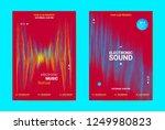 electronic music banner. techno ... | Shutterstock .eps vector #1249980823