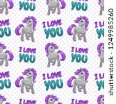 seamless pattern with cute... | Shutterstock .eps vector #1249985260