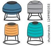 vector set of water storage... | Shutterstock .eps vector #1249985353