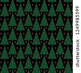 knit texture christmas trees on ... | Shutterstock .eps vector #1249985599