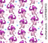 seamless pattern with cute... | Shutterstock .eps vector #1249988953