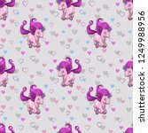 seamless pattern with cute...   Shutterstock .eps vector #1249988956