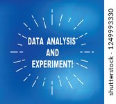 text sign showing data analysis ... | Shutterstock . vector #1249993330