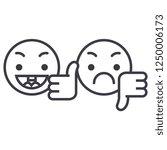 thumbs up  down emoji concept... | Shutterstock .eps vector #1250006173
