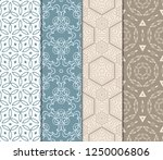 set of floral pattern. seamless ... | Shutterstock .eps vector #1250006806