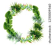 wreath of tropical leaves | Shutterstock .eps vector #1250009560