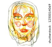 woman portrait in modern... | Shutterstock . vector #1250014069