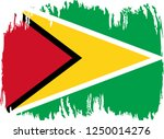 guyana vector grunge brush... | Shutterstock .eps vector #1250014276