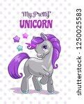 my pretty unicorn. cute... | Shutterstock .eps vector #1250025583